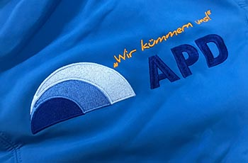 APD Gelsenkirchen - Stickerei Blitz