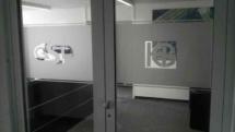 Bürofenster mit Glasdekorfolie