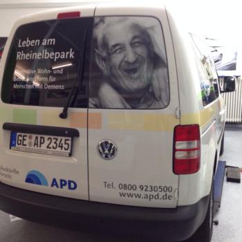 Fahrzeugbeschriftung 〉 Gelsenkirchen 〉 APD Ambulante Pflegedienste