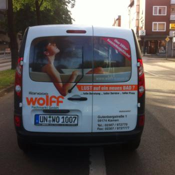 Fahrzeugbeschriftung 〉 Kamen 〉 Wolff Fachmarkt
